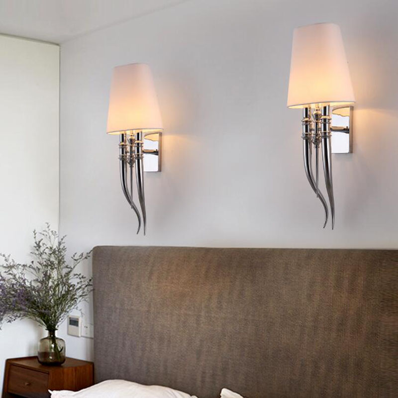 Creative led wall lamp hotels Modern Iron wall lamps Dining Living room bedroom double head AC85-265V Sconce Light fixtures special modern and simple mediterranean single head wall lamp bedroom bedside lamps living room dining villa club creative arts