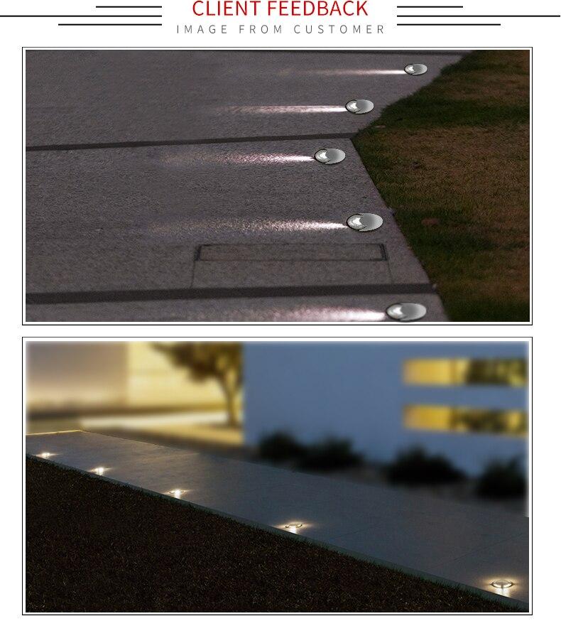 Spot LED Embutido furo lateral piso enterrado