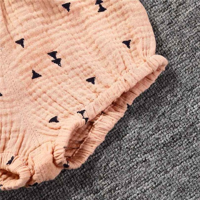 0-5Y Kawaii Newborn Baby Bloomers Shorts PP Pants Cotton Linen Triangle Solid Dot Bobo Bebe Girls Shorts Summer Trouser Toddler 10