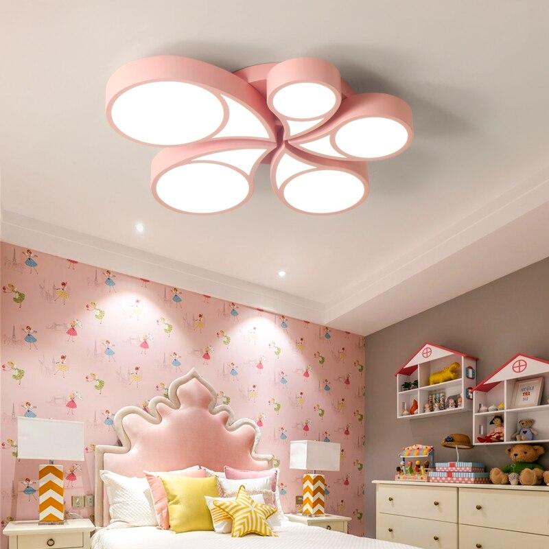 Enfants de chambre rose blanc bleu lumière LED plafond lampes ...