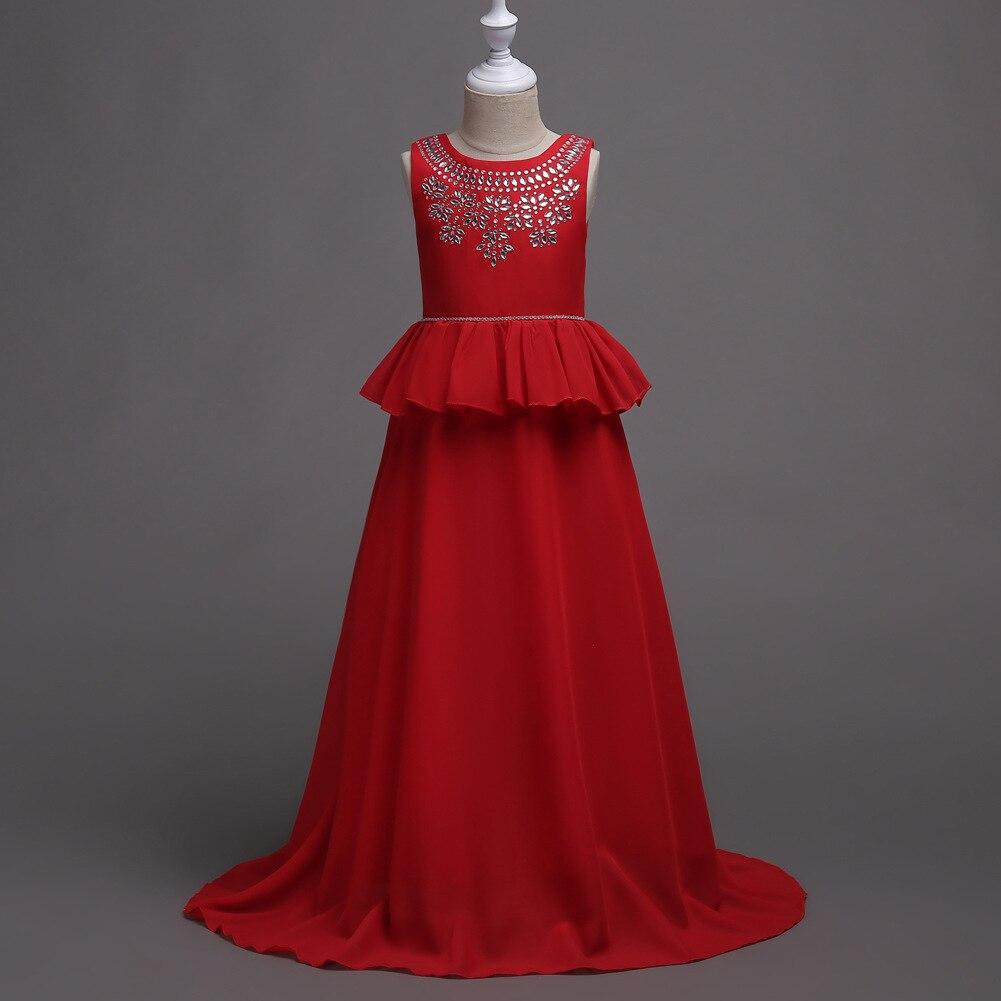 Kinder Prinzessin Rot Navy Blau Lila Festzug Hochzeitskleid Großen ...