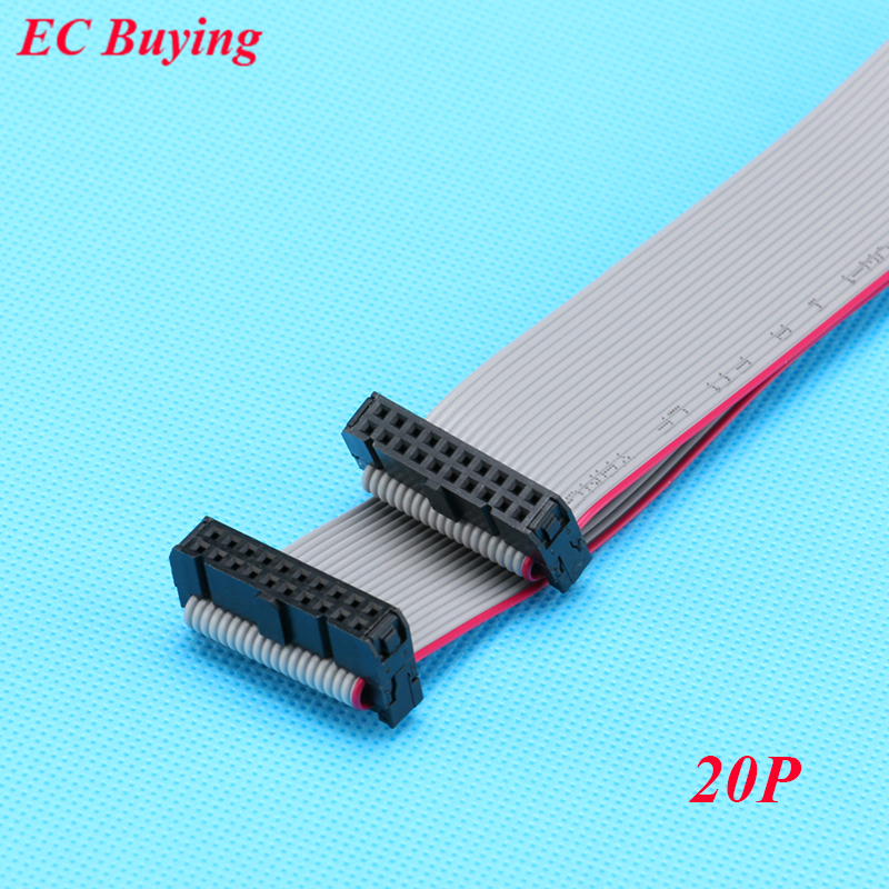 10pcs Lot Fc 20p 2 54mm Pitch Jtag Avr Download Cable Wire