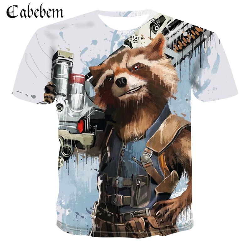 Rocket Raccoon Science fiction Movie The Avengers Role Play Tshirt Men T shirt Super Cool Slim T Shirt Unisex Street clothes|T-Shirts| - AliExpress