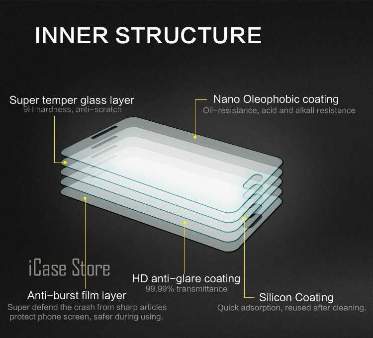 2.5D 0.26 mét 9 H Điện Thoại Di Động Front Tempered Kính Cường Lực Cristal đối với Sony Xperia Experia Z1 Nhỏ Gọn Mini D 5503 D5503 M51W