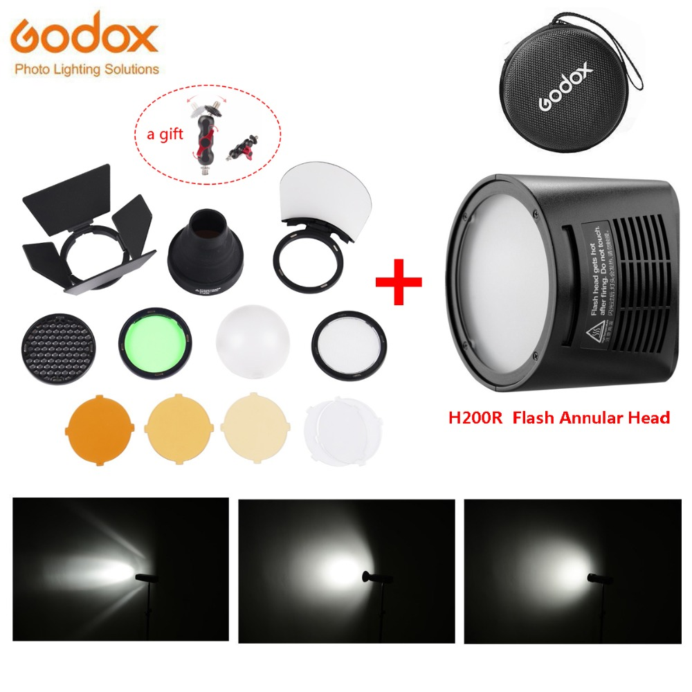 Godox H200R Flash Annular Head Separation Portable Extension with Spiral Flash for Godox AD200 Flash Godox
