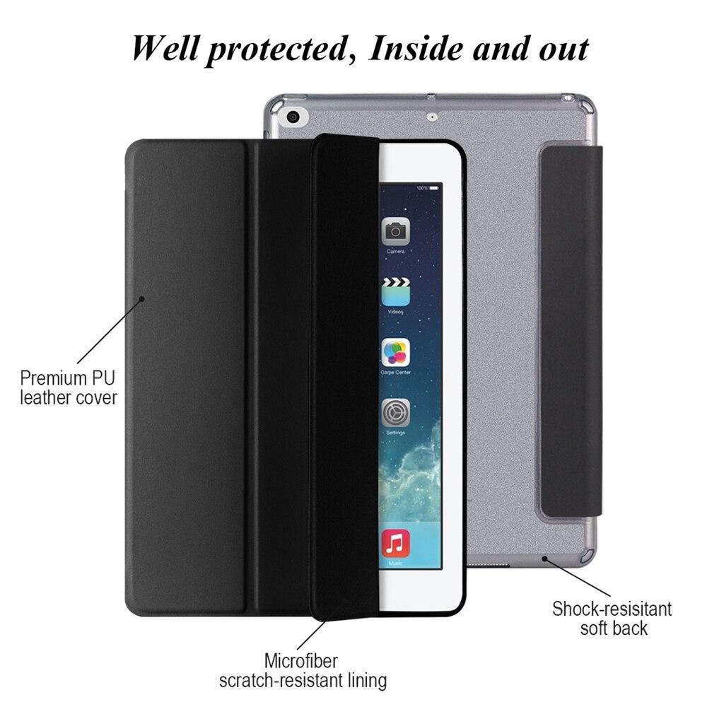Para iPad 2018 Funda 9.7, GOOJODOQ Ultra Slim PU Leather + Glitter - Accesorios para tablets - foto 2