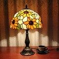 Настольная лампа в Европейском стиле  креативная прикроватная тумбочка для спальни  кабинета  гостиной  кафе  бара  отеля  подсолнуха  для св...