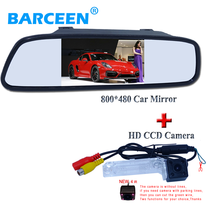 Auto Parking System 4 3 TFT LCD Mirror Car Parking Monitor car rear camera for VW