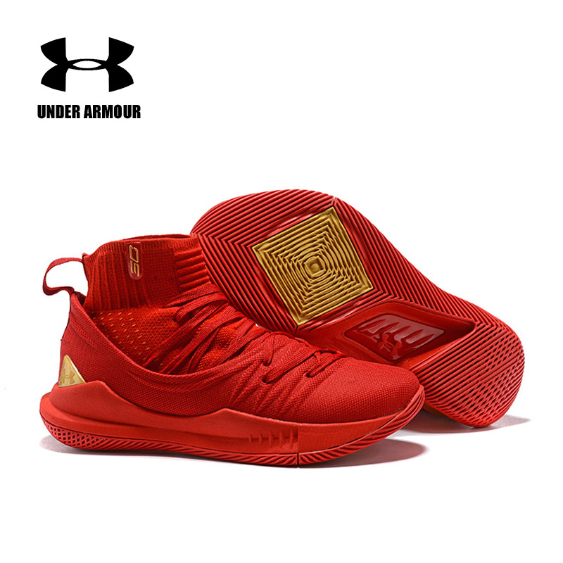 UA Curry 5 Under Armour 5 Basketball Shoes Men zapatos hombre Outdoor Sneakers Man Black Red Athletic Sport shoesUA Curry 5 Under Armour 5 Basketball Shoes Men zapatos hombre Outdoor Sneakers Man Black Red Athletic Sport shoes