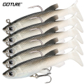 Goture 5 Pieces Soft Fishing Lure Wobbler Swimbait Silicone Isca Artificial Bait Carp Fishing Lead Jig Fish Pesca 13g/8.5cm