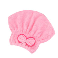 Best Microfibre Quick Hair Drying Bath Spa Bowknot Wrap Towel Hat Cap For Bath Bathroom Accessories QQ99(China)