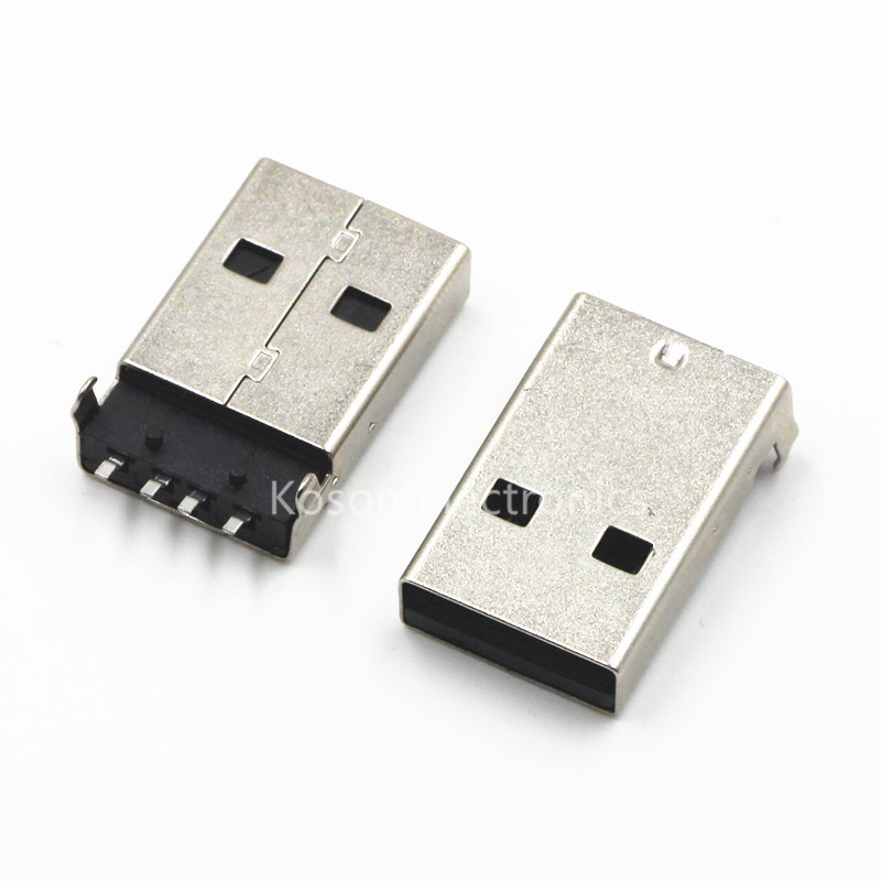 10pcs USB A-type Male 180-pin SMD Socket Head Bent Male USB Plug Seat