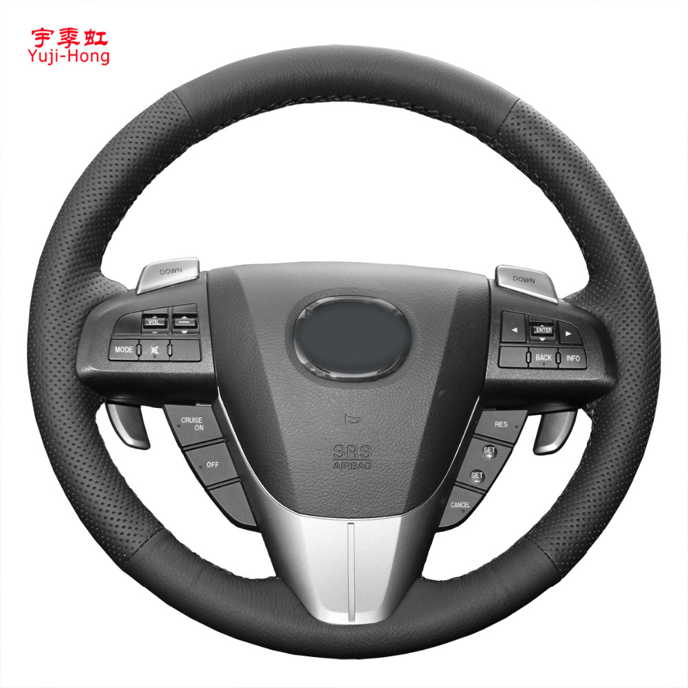 Yuji Hong Real Leather Car Steering Covers Case for MAZDA 3 2011 2015 CX 7 CX