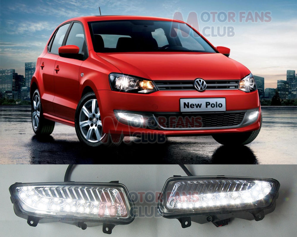 2017 LED Daytime Running Light For Volkswagen VW Polo Car Fog Lamp DRL 2010~2014