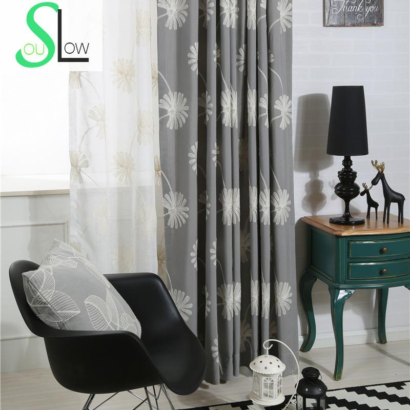 kitchen stores cabinet refacing cost gray, blue, khaki cotton flower curtain fabric curtains ...