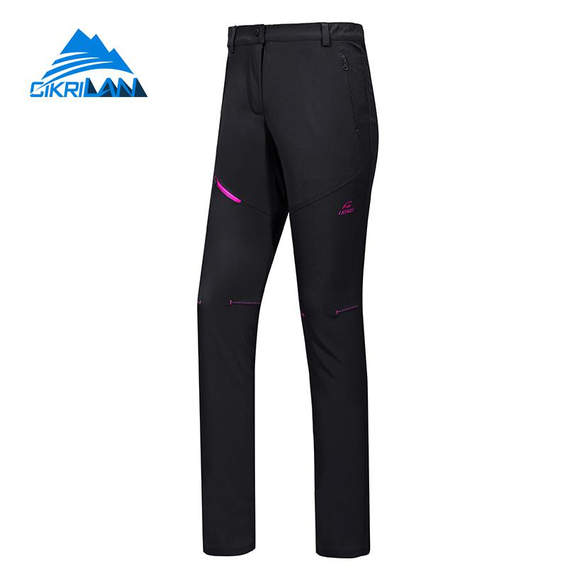 Winter Softshell Outdoor Hiking Pants Women Windstopper Sport Mountain Trekking Climbing Trousers Climb Camping Pantalon Femme