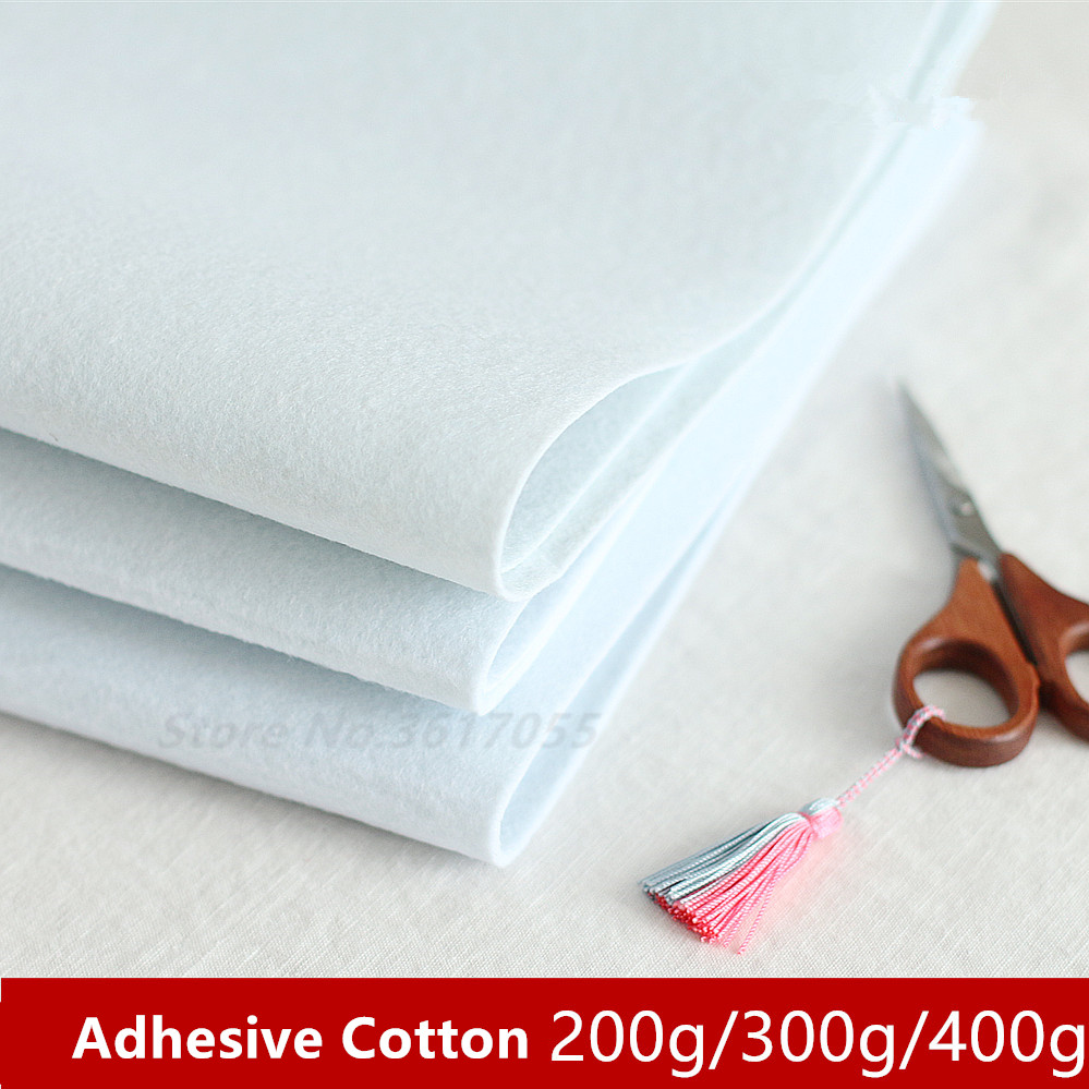 Interlinings & Linings 200/300/400g Single Side Adhesive Cotton Batting Cream Interlining Filler Perfect For Purse Patchwork Bags Craft Diy Projects