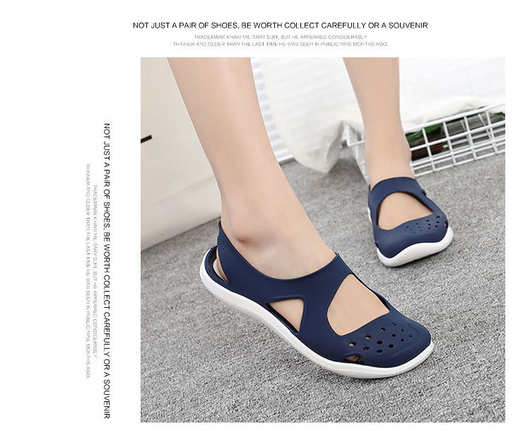 HTB12nX5bzzuK1RjSspeq6ziHVXa4 - Women's Sandals Fashion Lady Girl Sandals Summer Women Casual Jelly Shoes Sandals Hollow Out Mesh Flats Beach Sandals