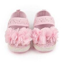 Новый Дизайн Детская Обувь Хлопок Резьба Мелкой Цветок нескользящей Девочку Принцесса Обувь Для 0-15 Месяцев