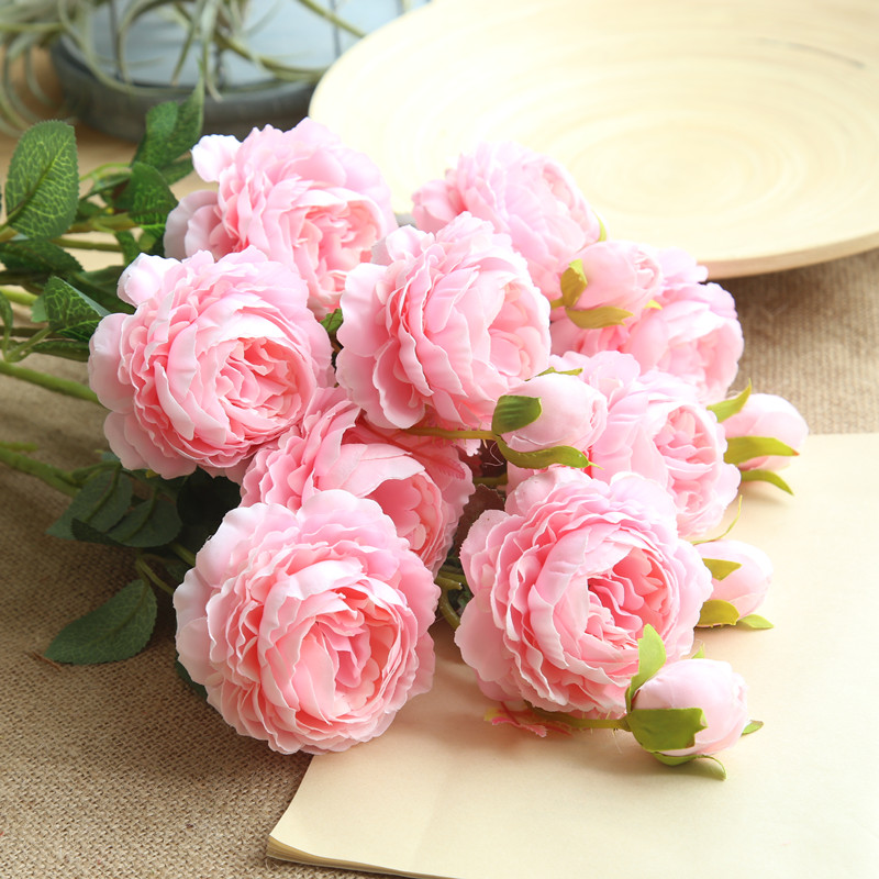 peony artificial roses flowers (5)