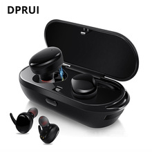 DPRUI Wireless Earphones Bluetooth Earbuds with Microphone Power Bank Box True Wireless Stereo In Ear Earphone for iPhone Xiaomi wishello true wireless earphones bluetooth wireless 4 2 stereo in ear with mic portable charging box for iphone samsung xiaomi