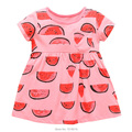 New 2017 Brand Quality 100% Cotton Summer Baby Girls Dress Short Sleeve Children's Clothing Summer Kids Dress Baby Girls Clothes