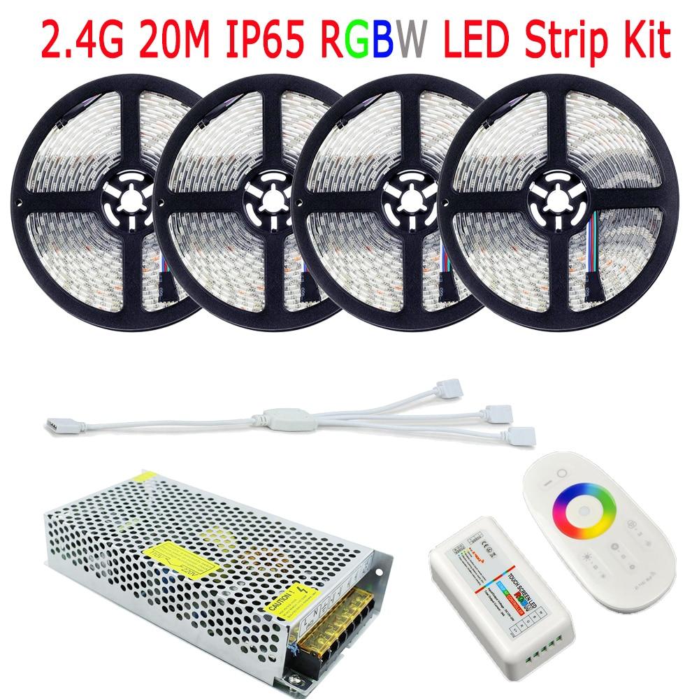 20M SMD 5050 RGBW RGBWW LED Strip IP65 Silikon Suya davamlı 60LED / - LED işıqlandırma - Fotoqrafiya 2
