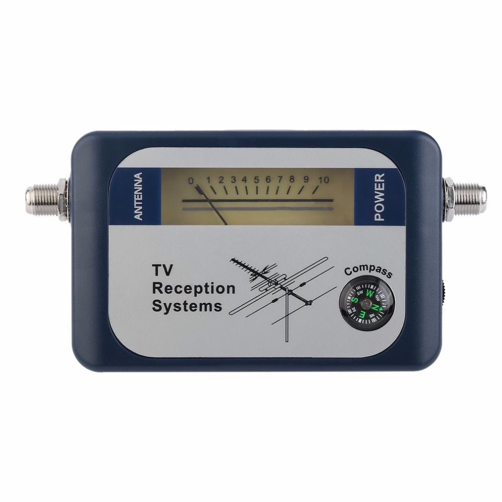DVB-T Finder Digital Aerial Terrestrial TV Antenna Signal Power Strength Meter Pointer TV Reception Systems With Compass