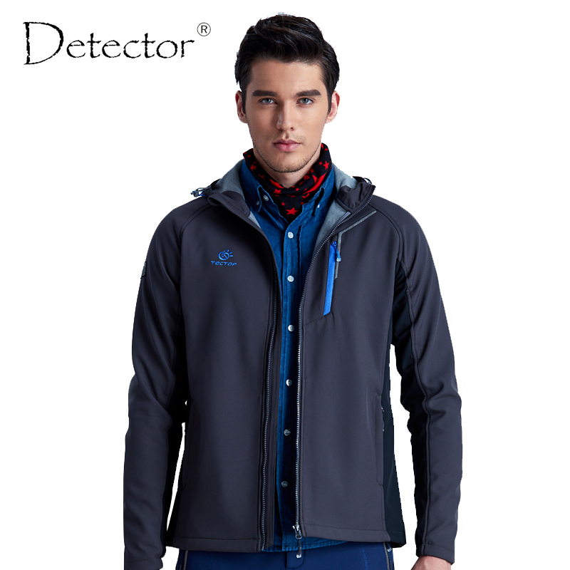 Detector Men Waterproof WindProof Camping Hiking Jacket Outdoor Warm Windbreaker Thermal Sport Male Coat