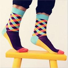 funny crew cotton socks men hip hop happy sock casual harajuku pattern skate designer fashion novelty art