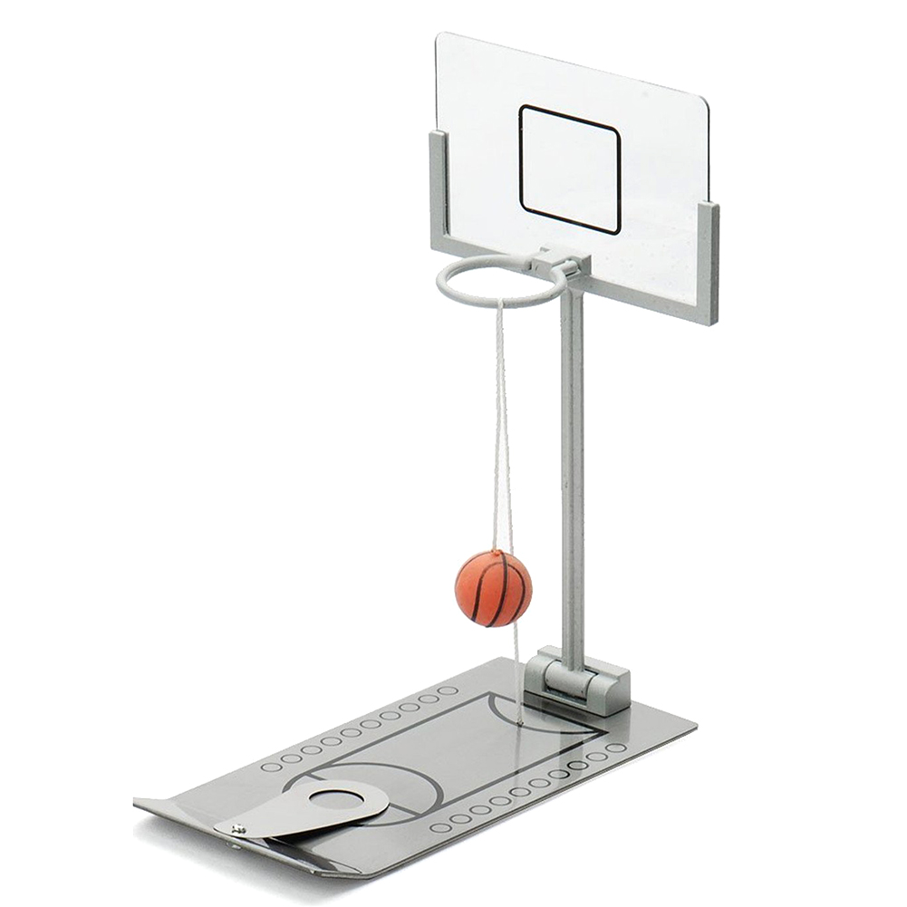 Basketball Hoop Mini Desktop Folding Basketball Machine Stress Reliever Creative Small Rebound