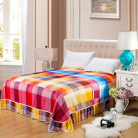 1 piece Pastoral Style Bedspread Bed Cover Fashion Pattern Protect sheet For 5feet 6 feet bed