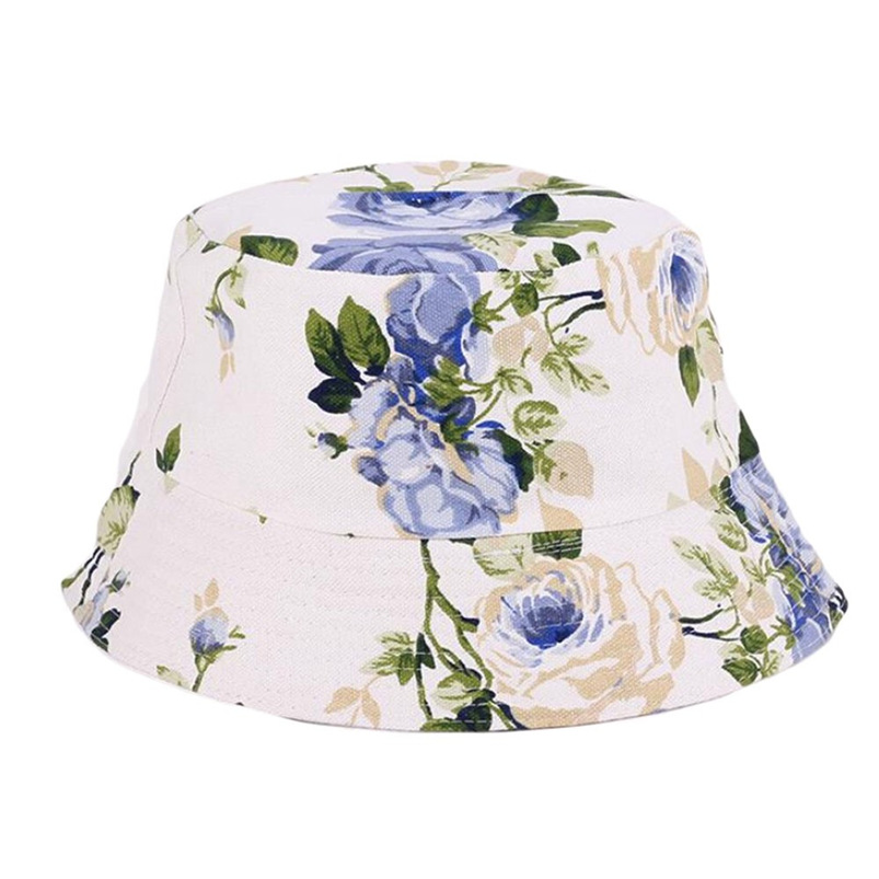 Men Women Bucket Hat Flower Print Cap 2018 Summer Colorful Flat Hat Fishing Boonie Bush Cap Outdoor Sunhat Wholesale #FM11 (4)