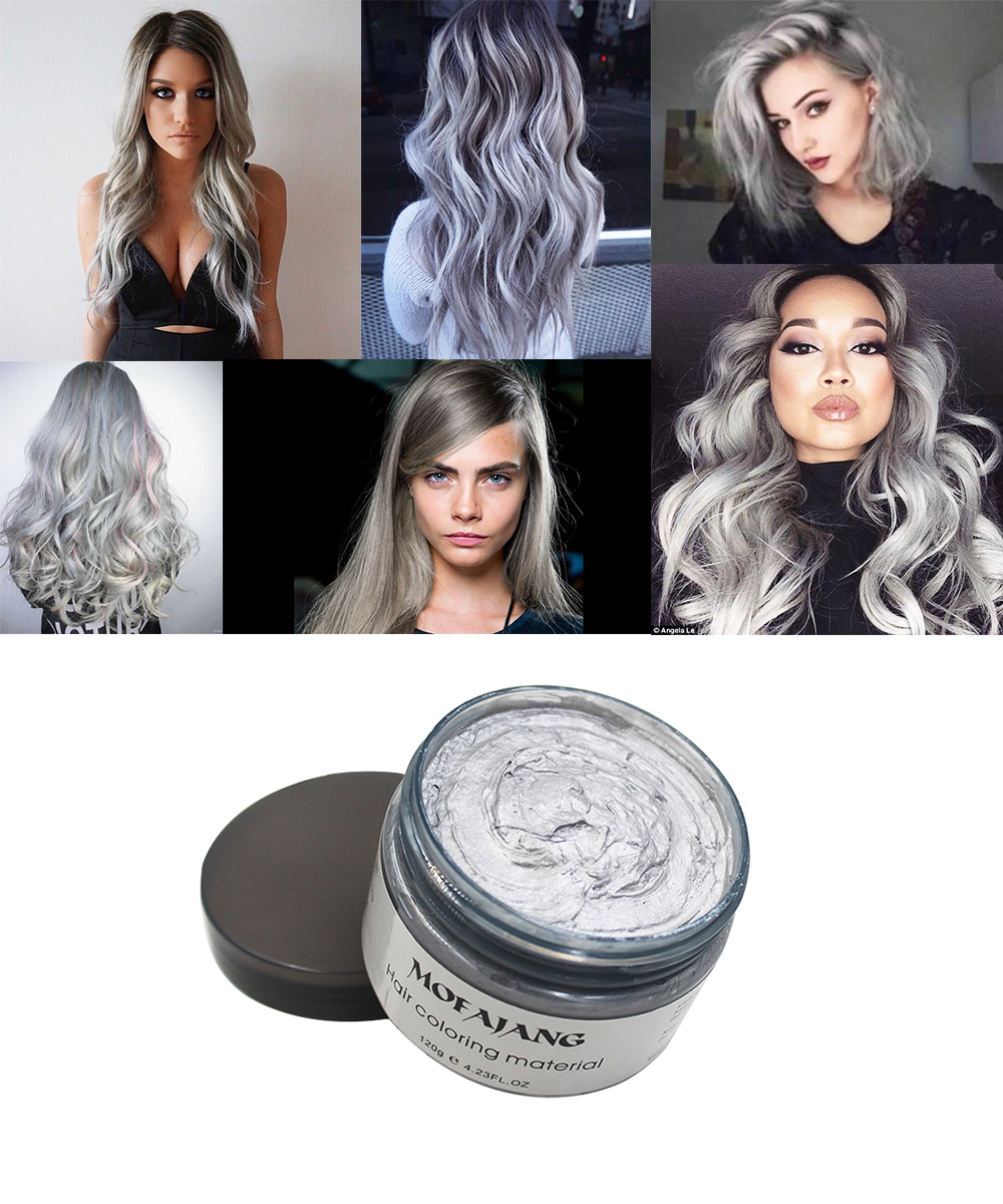 Sliver Grey Hair Wax09