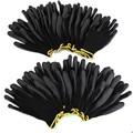 Nova chegada 12 pares preto náilon plutônio luvas de trabalho segurança construtores aperto para luvas de revestimento de palma