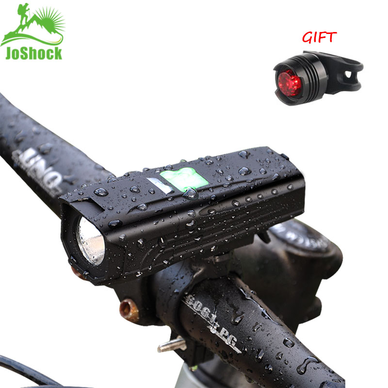 JoShock Bicycle Light 10000 LM 5Modes T6 LED Cycling Front USB Flashlight Waterproof Flashlight By 18650battery With Taillight
