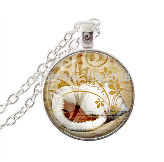ᗑРаковины Цепочки и ожерелья Стекло купол океан жизни ...