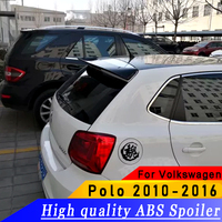 For Volkswagen Polo ABS high quality spoiler 2010 2016 year spoiler primer or DIY color car rear wing spoiler for Polo
