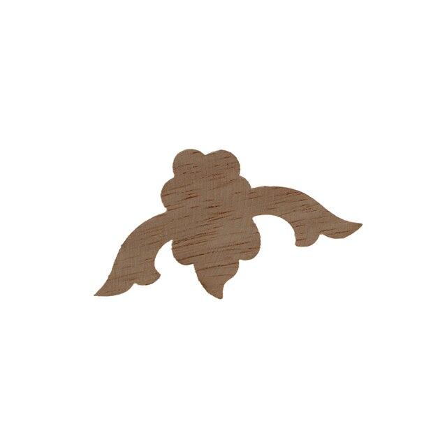 VZLX Vintage Floral Wood Carved Corner Applique Wooden Carving Decal For Furniture Cabinet Door Frame Wall Home Decor Crafts 6