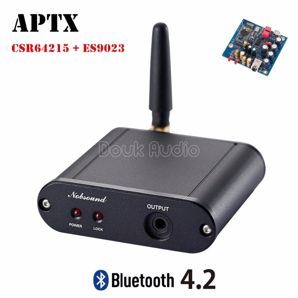 цена на 2018 Lastest Nobsound Wireless Bluetooth 4.2 HiFi CSR64215 ES9023 AD823 Apt-X Lossless Audio Decoder DAC Mini Amplifier