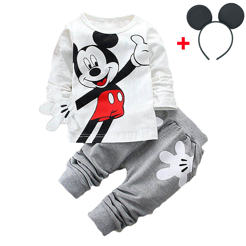 HTB12nYxXZfrK1RkSmLyq6xGApXay - Disney Mickey Minnie Frozen Xmas Baby Set Fashion Newborn Baby Cute Girl T-Shirts Pants Outfits Kids Tracksuits Jogging Suits