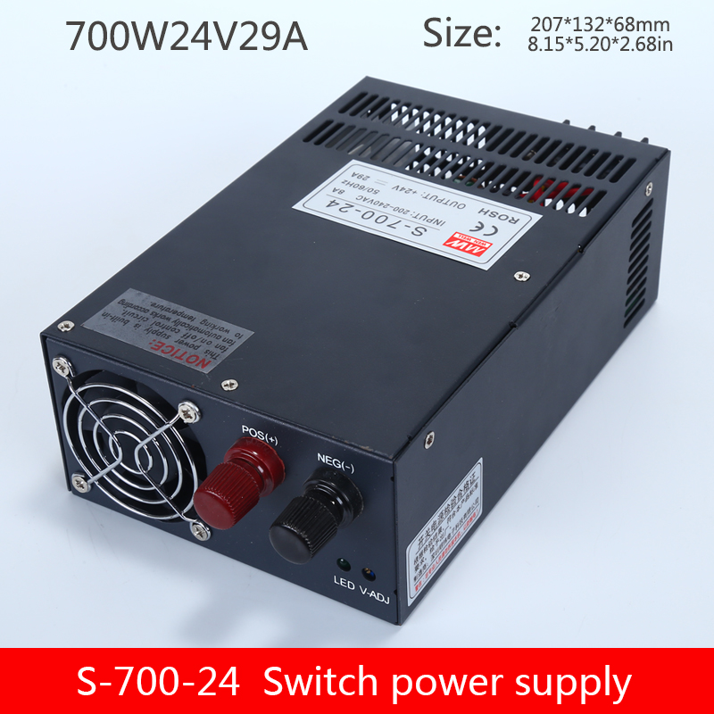 Switching power supply S-700W-24V 12V 36v 48v 600W monitoring LED light with light box transformer DC image