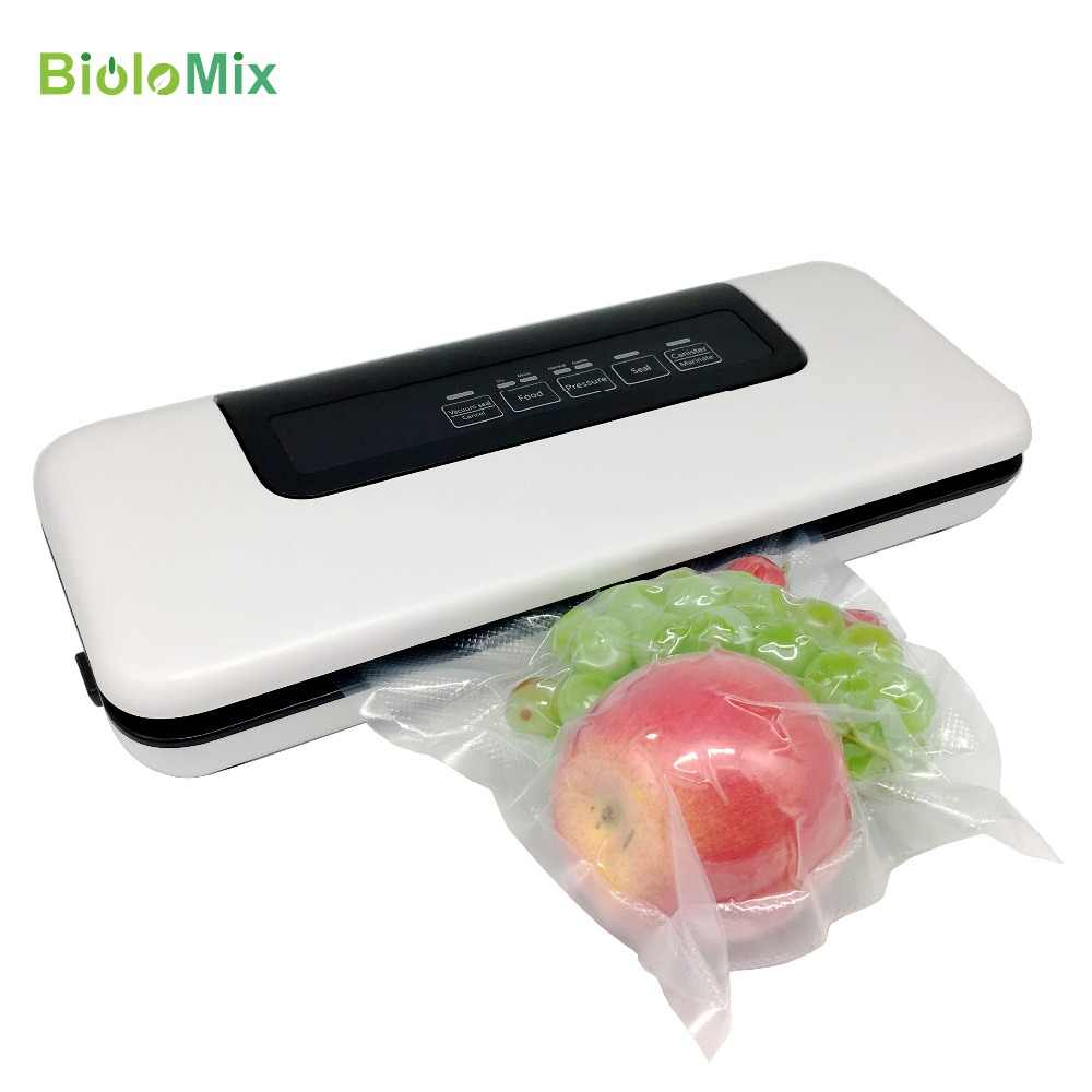 Multifunctional 220V/110V Household Food Vacuum Sealer Packaging Machine Film Sealer Vacuum Packer Including 10pcs Bags Biolomix