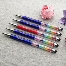 Fahion wedding 1th Anniversary souvenirs for guests rainbow stylus pens custom free with your design text on pen body