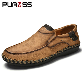 Men Casual Shoes Loafers Sneakers 2019 New Men Fashion Leather Comfortable Loafers Casual Shoes Zapatos De Hombre Men Shoe