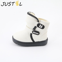 2016 new children's waterproof snow boots non-slip thick keep warm comfortable boys girls cotton boots cute shoes for kids