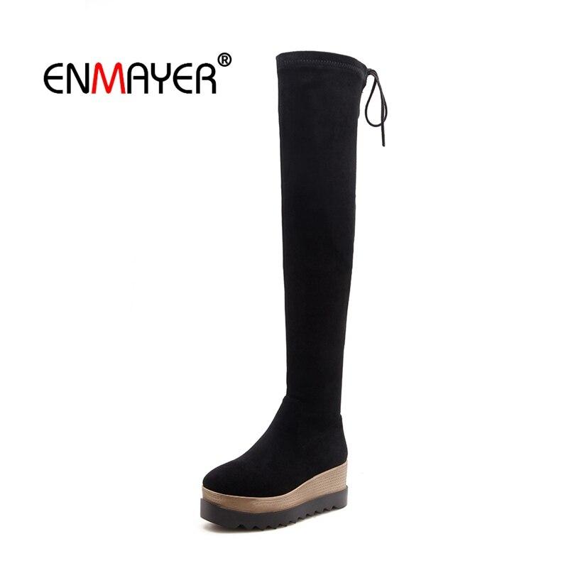 ENMAYER Femme Sur Le bottes hautes chaussures pour femmes Bottes D'hiver bottes à fermeture éclair pour les Femmes Cuisse haute butin Troupeau bottes de mode CR2032
