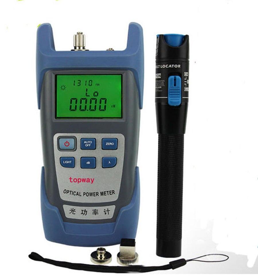 De poche Optique Power Meter + 1 mw Fiber Optique Laser Localisateur Visuel de défauts, Rouge Laser De Fiber Optique Cable Tester