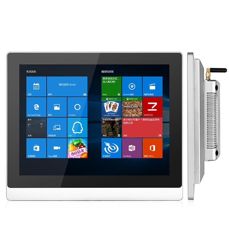 19 Inch True Flat Capacitive Touch AIO Computer J1900 2.0 GHz Quad Core Processor Tablet Pc Windows 7/8/10/Linux
