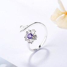 Women Sakura Ring Fashion Crystal Open Adjustable Finger BFF Gift